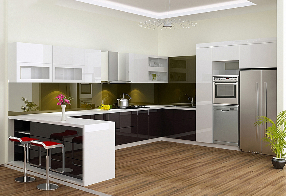 Tủ Bếp không gian mở